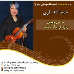 بهترین آموزشگاه موسیقی تهران-استاد شیما الله یاری